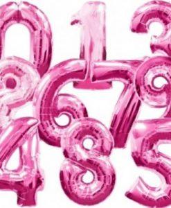Balões em forma de numero grande metalizado