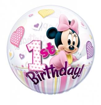 Balão Bubble Aniversario Baby Disney