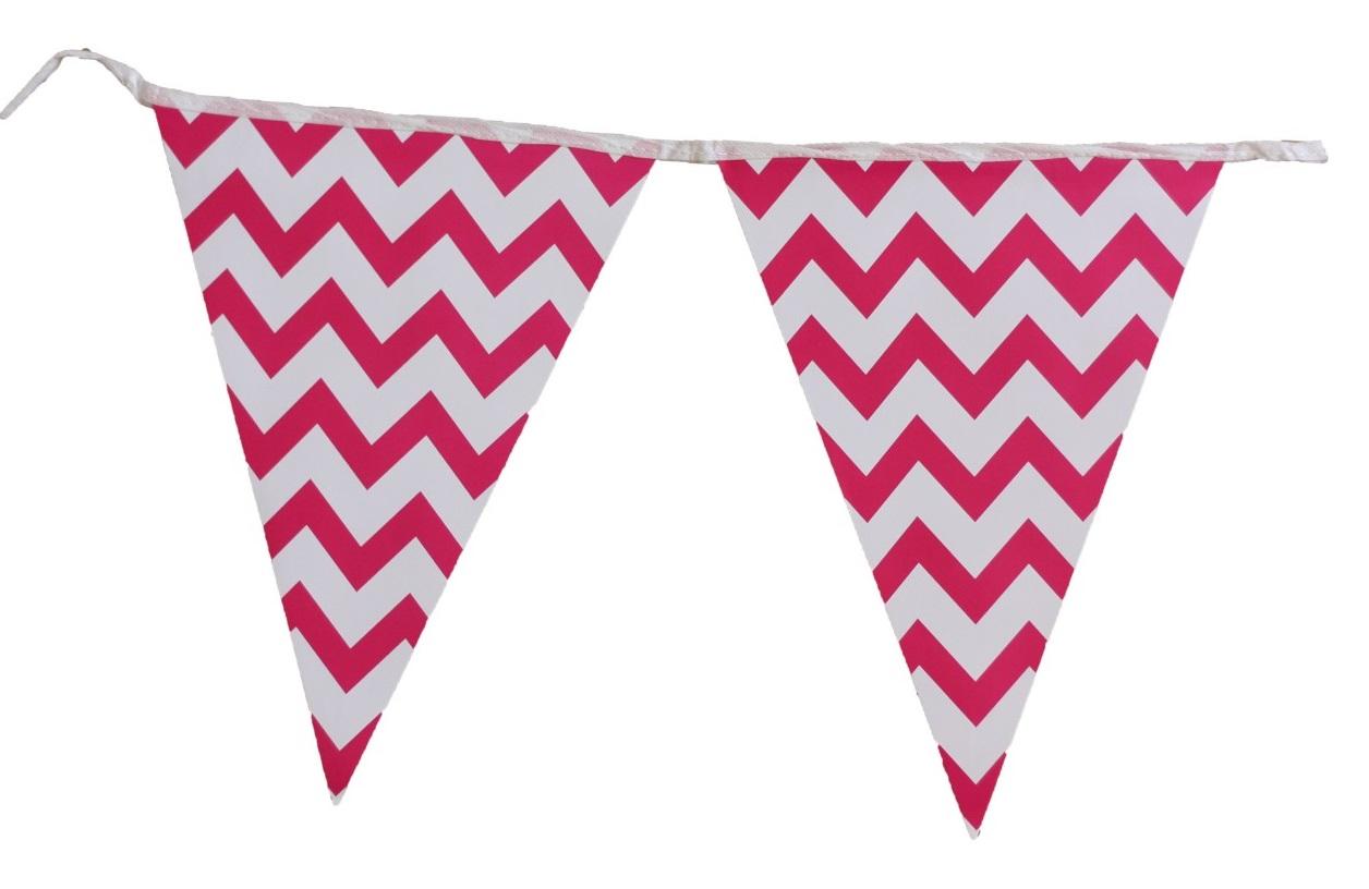 Bandeirola de Papel Rosa Pink Zig Zag