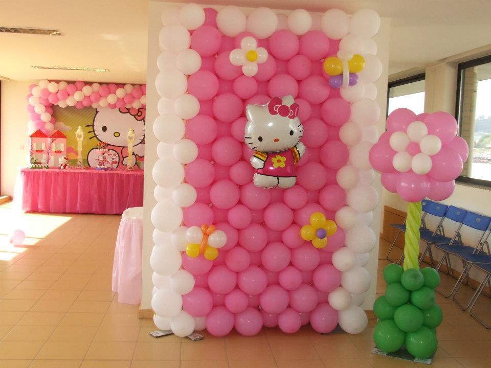 Parede Balão - Hello Kitty