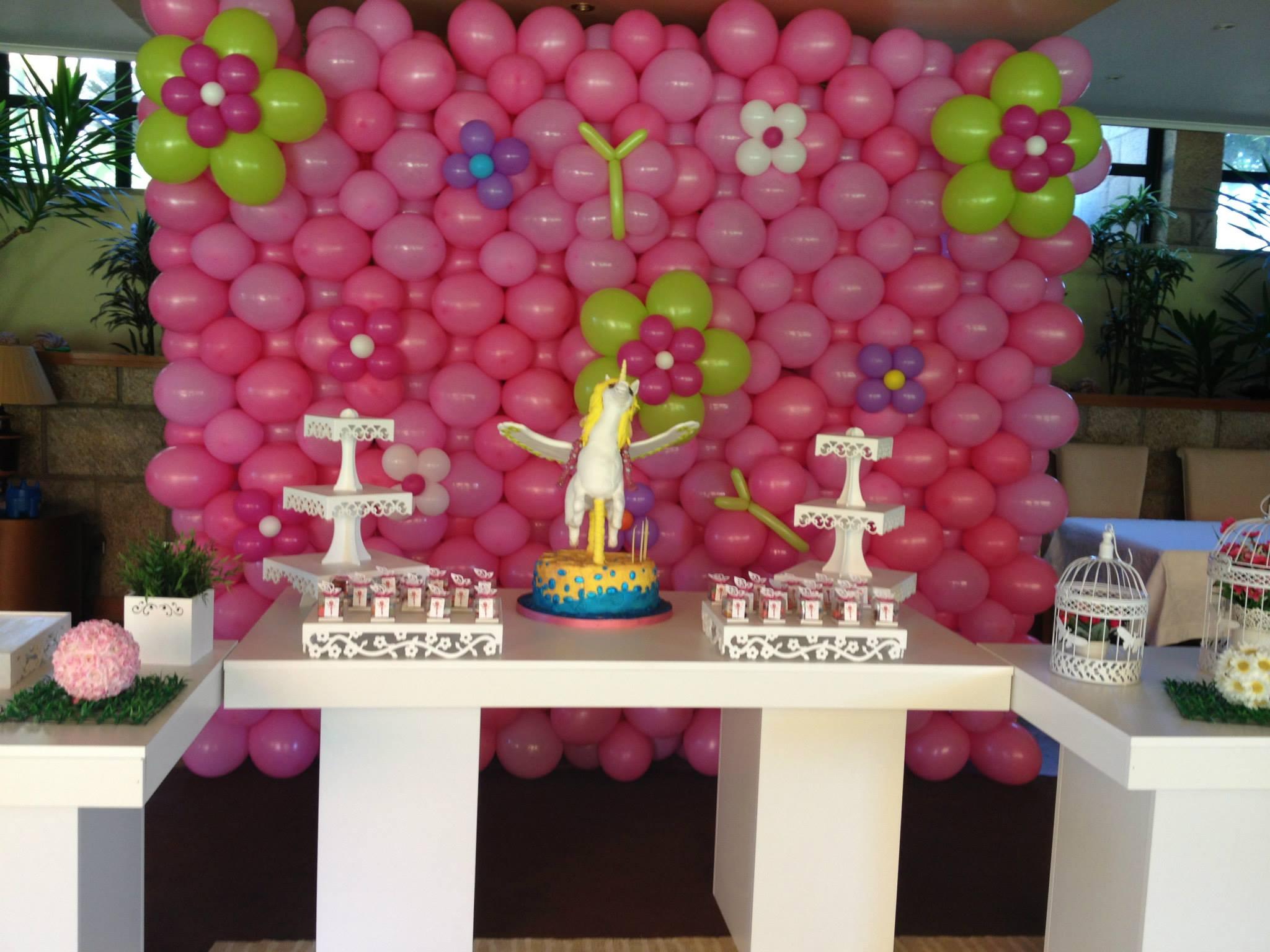 Parede Balão tema princesas