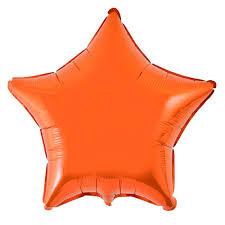 balao estrela laranja