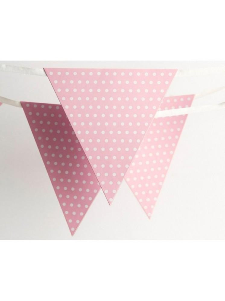 bandeirola rosa bebe