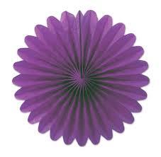 decor leque lilas