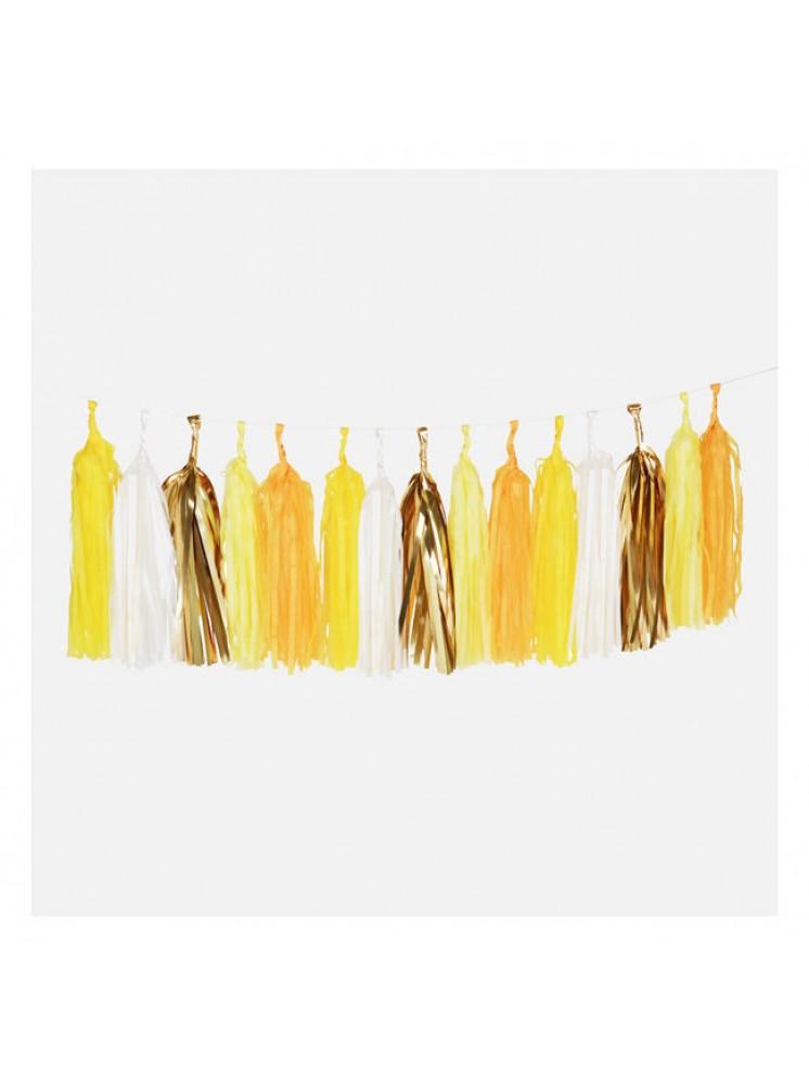 grinalda tassel amarela