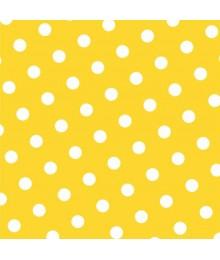 guardanapos amarelo as bolinhas
