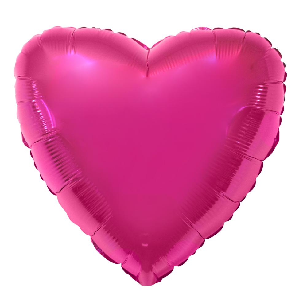 Balao Metalizado Coracao rosa