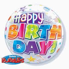 Balão Bubble happy Birthday