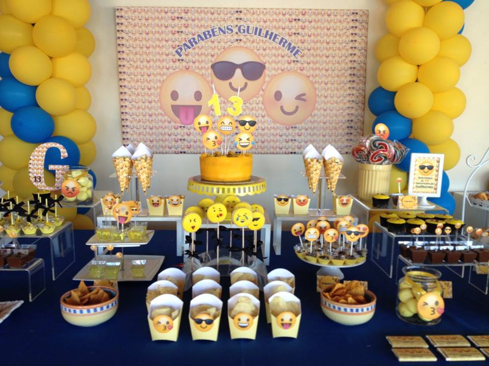 Festa Emojis, Smiles, emoticons ou smiley, Braga, Guimar u00e3es u2013 Planet Party -> Decoracao De Festa Tema Emoji
