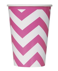 chevron_paper_cup_hot_pink