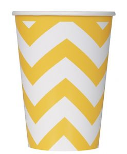 chevron_paper_cup_yellow