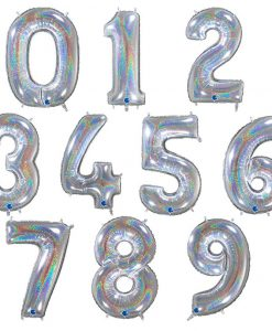 Balões em forma de numero grande holográfico